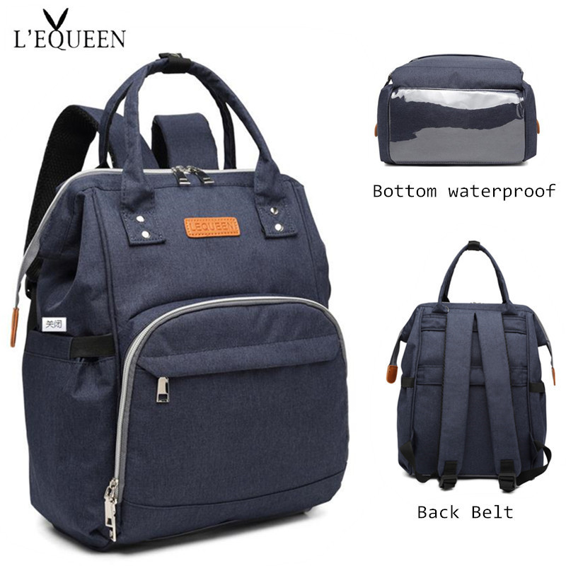 [Clearance] LEQUEEN Diaper Bag Antifouling Waterproof Bottom Nappy Bag Baby Care Nursing Bag Travel Backpack Maternity Bag