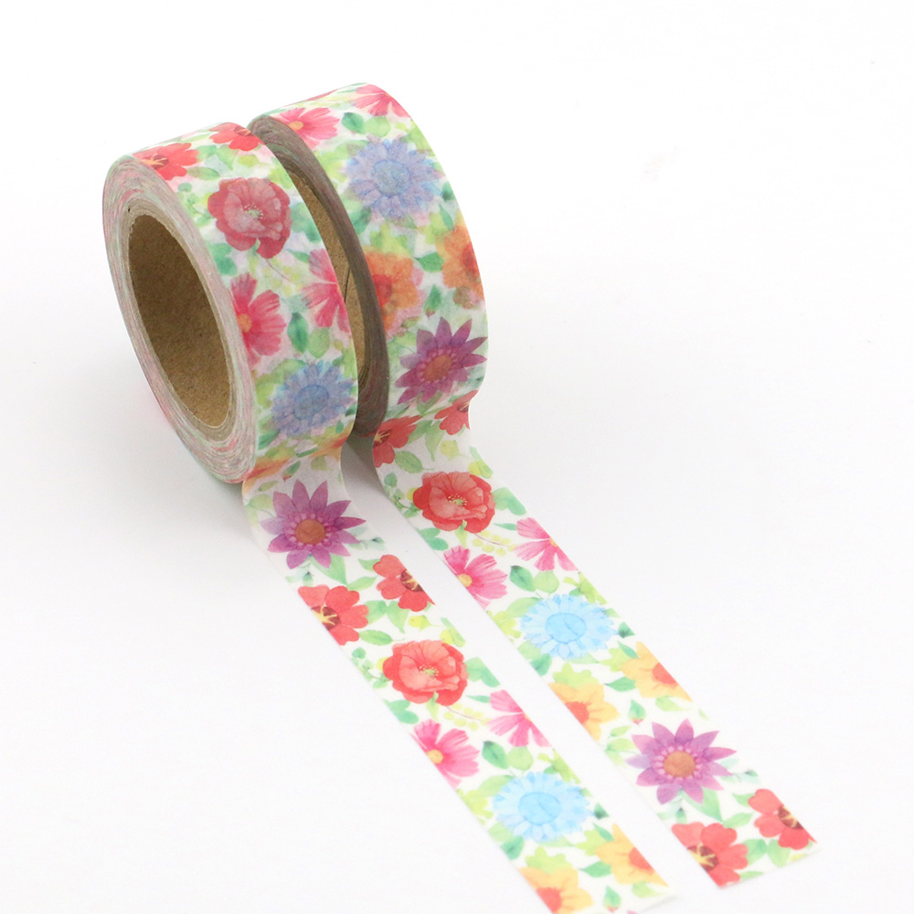 1pc Beautiful colorfuls sunflower Decorative Washi Tapes Paper DIY Scrapbooking Adhesive Masking Tapes 10m School Office Supply in Office Adhesive Tape from Office School Supplies