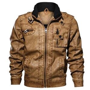 Image 3 - Chaquetas de cuero PU para hombre, prendas de vestir informales, rompevientos, chaquetas de cuero para Fitness para motocicleta, 6XL 7XL chaqueta de cuero, venta al por mayor