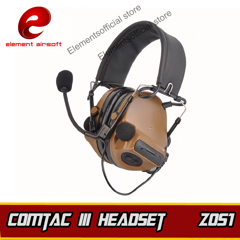 Z-TAC Tactical Comtac III Headset Z-tactical Softair Airsoft Gun ipsc Kenwood PTT Hunting Arsoft Headphone Earphone For Shooting z tactical noise reduction headset comtac ipsc style tactical hunting shooting protective earphone for airsoft military radio