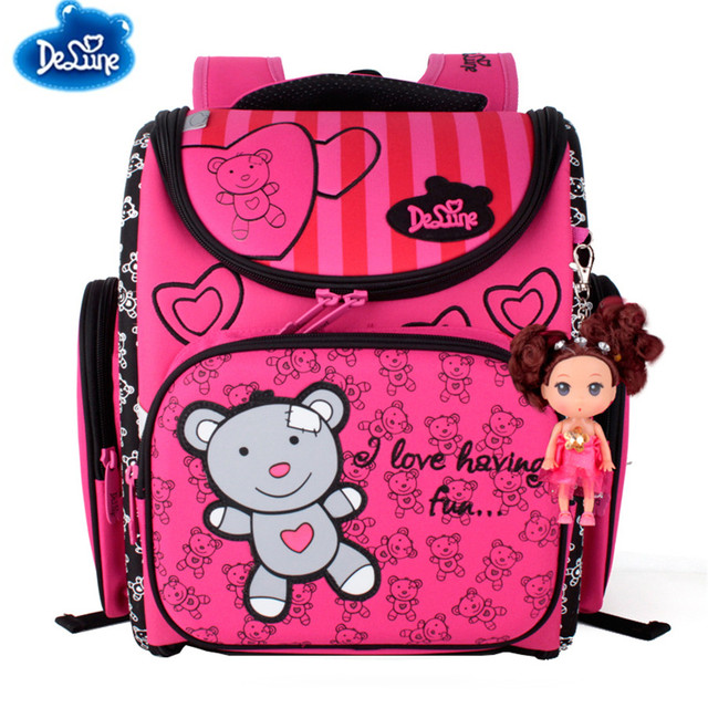 89e8fd92aae9 Delune Waterproof Backpack Kids School Bag