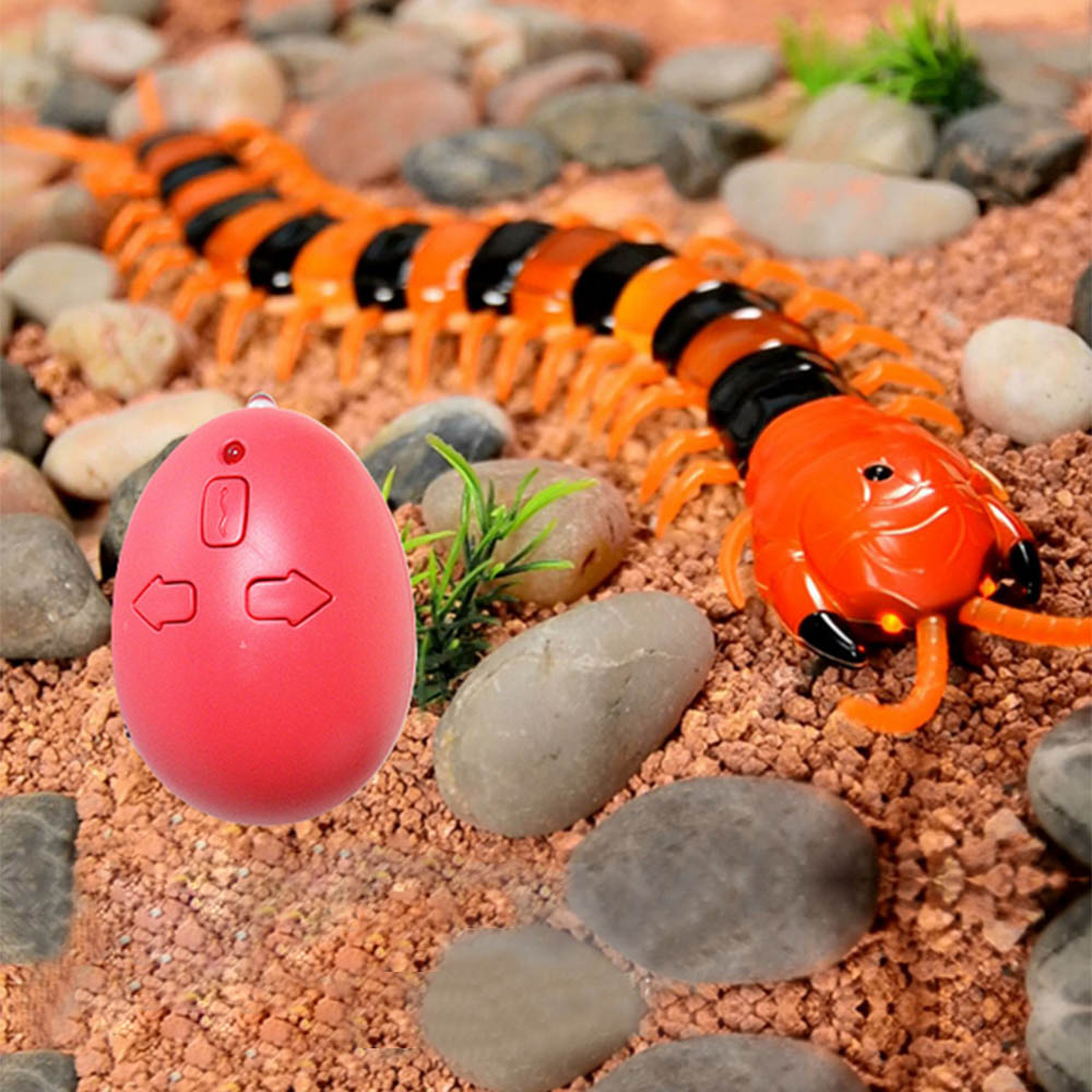 Satkago Adults Kids Wireless Electric RC Remote Control Centipede Scolopendra Creepy Halloween Toy Prank Trick Joke Toys Props
