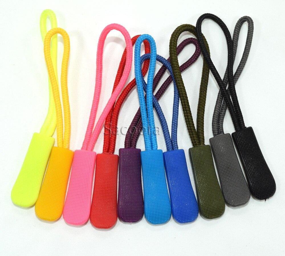 5000 stks Mix Kleur Ritsen Cord Touw Eindigt Lock Zip Clip Gesp Voor Paracord Accessoires/Rugzak/Kleding-in Ritsluitingen van Huis & Tuin op  Groep 2
