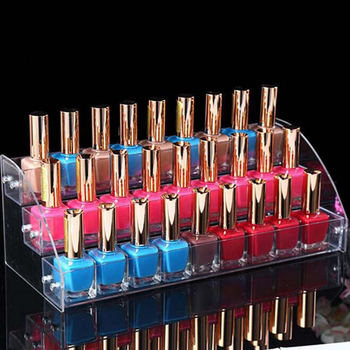 Acrylic Makeup Cosmetic 3 Layers Clear Acrylic Organizer Lipstick Jewelry Display Stand Holder Nail Polish Essential Oil Rack acrylic nail polish organizer essential oil storage 2 7 layers manicure cosmetics jewelry display stand holder clear makeup box