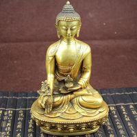 8.6 Large Tibet Tibetan brass Medicine Buddha Statue