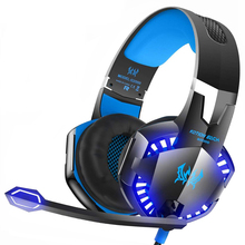 Kotion EACH Stereo Gaming Headset for Xbox One PS4 PC Surround Sound Over-Ear Headphone with Noise Cancelling Mic LED Lights стоимость