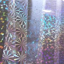 Прозрачная голографическая переводная фольга Звездное кольцо Снежная поддельная наклейка для ногтей пленка DIY Инструменты для маникюра 120 м* 4 см