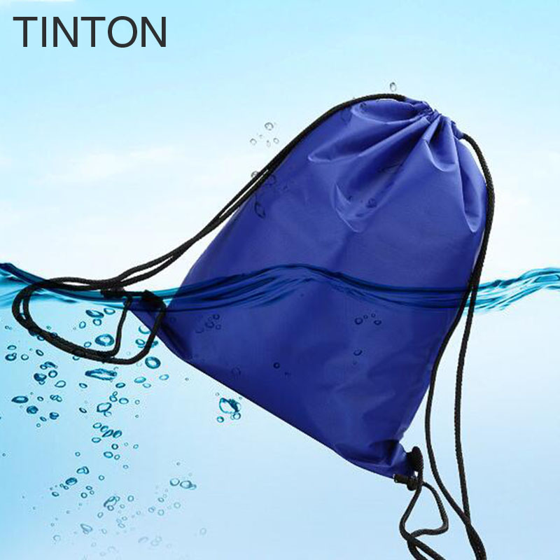 TINTON 2018 New fashion DrawString bags ladies waterproof backpack solid color Lanyard Rope bag for women pocket bag