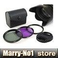 49mm UV CPL FLD Lens Filter+ lens cap cover + lens hood for can&n nik&n Sony NEX-3 NEX-5 NEX-6 NEX-7 18-55mm Lens DSLR camera
