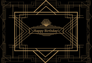 Mehofoto Birthday Theme Party Photo Backdrop for Photography Black Technology for Children Background MW-223
