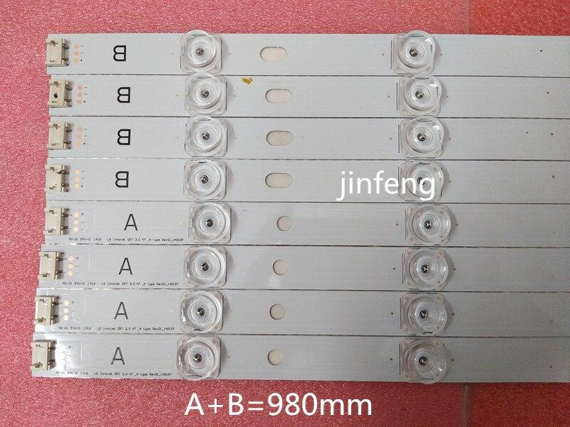100 NEW 98cm LED Backlight Lamp strip 9 leds For LG 47 TV innotek DRT 3