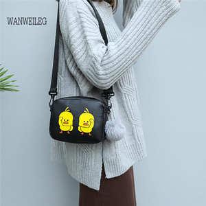 32f1f8f78c Women Cartoon Duck Mini Shoulder Messenger Bag Cute Student Small Round Bag  luxury handbags women bags designer Leather  P