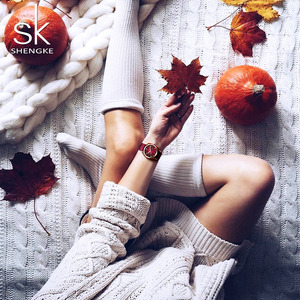 Image 3 - Shengke אופנה שעון נשים ניילון חגורת קוורץ שעון שעוני יד גבירותיי Relogio Feminino Zegarek Damski חדש 2019