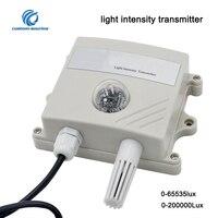 Light Intensity Sensor Temperature And Humidity Analog/RS485 Transmitter Sensor For Farm Environmental Illuminance sensor