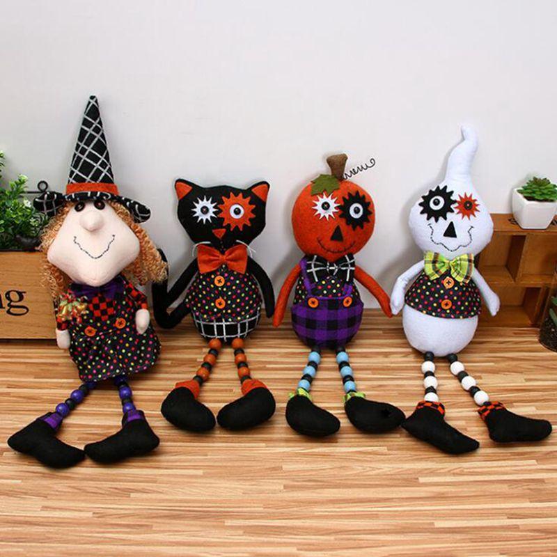 Ghyll quente natal halloween bruxa brinquedo de pelúcia halloween fantasma gato preto presente de halloween festa/festival decoração diy
