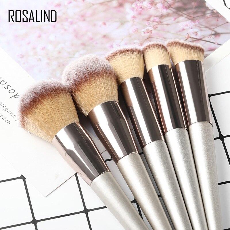 ROSALIND Makeup Brushes Foundation For Professional Makeup Full Set High Quality Brushes Eye Shadow Lip Powder Sponge Makeup Too