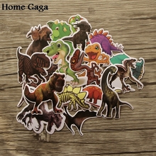 Homegaga 20pcs Dinosaurs Creative badges DIY decorative stickers Cartoon PC wall notebook phone Home garden D1270