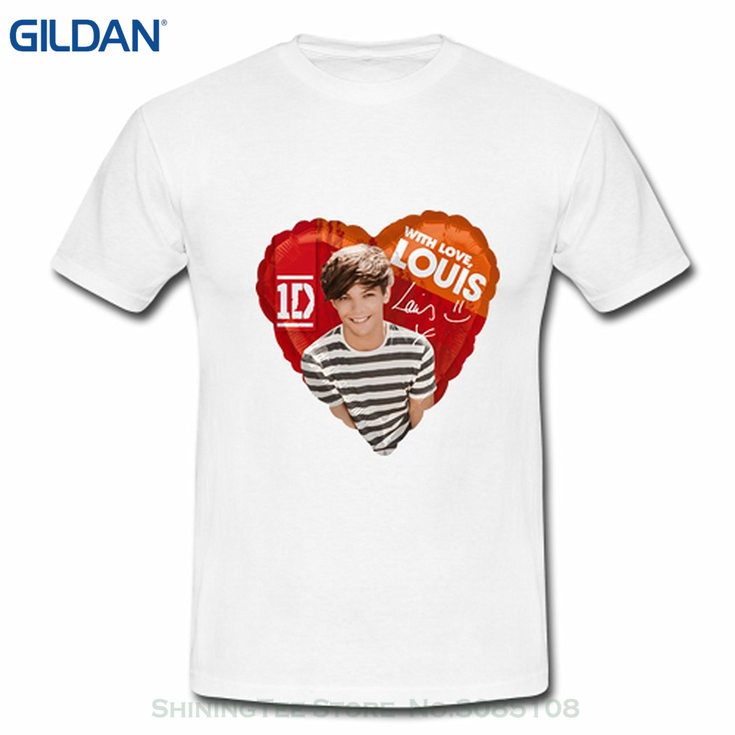 Design t shirt one direction - Gildan Design T Shirts Casual Cool Ahhachi Boy Mens One Direction 1d Louis Tomlinson Photo Logo Tshirt Large White