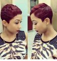 Cheap Rihanna Short Pixie Cut Heat Resistant Synthetic Hair Wigs Glueless  Wig For Black Women Short Cut Hair Short Cut Wigs