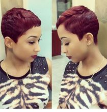 Cheap Rihanna Short Pixie Cut Heat Resistant Synthetic Hair Wigs Glueless  Wig For Black Women Short Cut Hair Short Cut Wigs