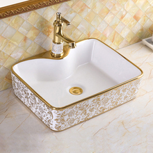 Ceramic basin Bathroom Sink European style Luxury Washbasin Bath Combine Free Drain High quality