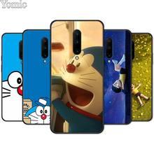 Cute Doraemon Black Case for Oneplus 7 7 Pro 6 6T 5T Silicone Phone Case for Oneplus 7 7Pro Soft Cover Shell
