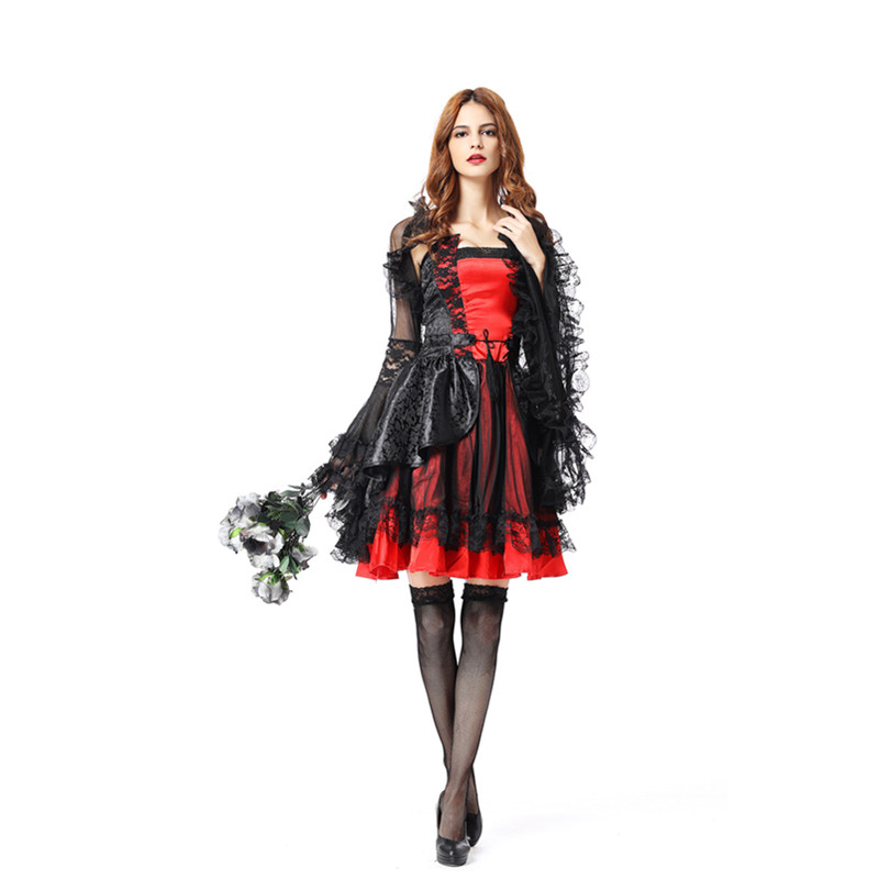 Fashion Women V&ire Girl Witch Adult Gothic Dark Queen Halloween costume Cosplay-in Movie u0026 TV costumes from Novelty u0026 Special Use on Aliexpress.com ...  sc 1 st  AliExpress.com & Fashion Women Vampire Girl Witch Adult Gothic Dark Queen Halloween ...