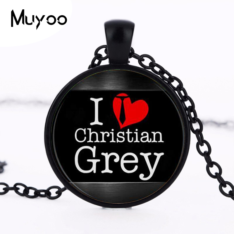 Fifty Shades of Grey,Fifty Grey Pendant,50 Shades of Grey Necklace, Laters Baby Jewelry, art pendant, gift for Her Him HZ1