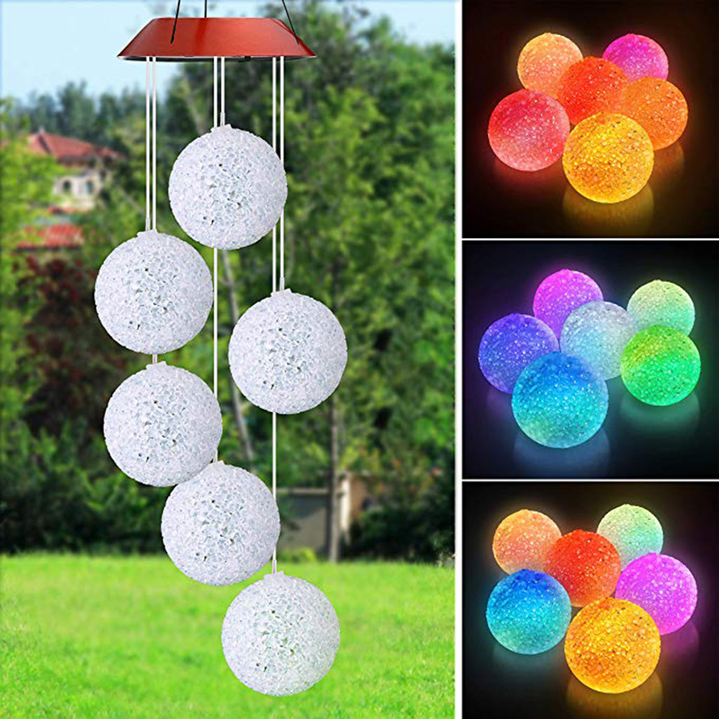LED Solar Powered Butterfly Wind Chimes Light Home Garden Hanging Lamp Decor Outdoor solar butterfly wind chime energia solar