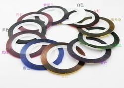 2 bandes décoratives pour ongles couleurs Art des ongles autocollants Gel vernis à ongles Design des ongles Accessoires beauté femmes manucure décoration