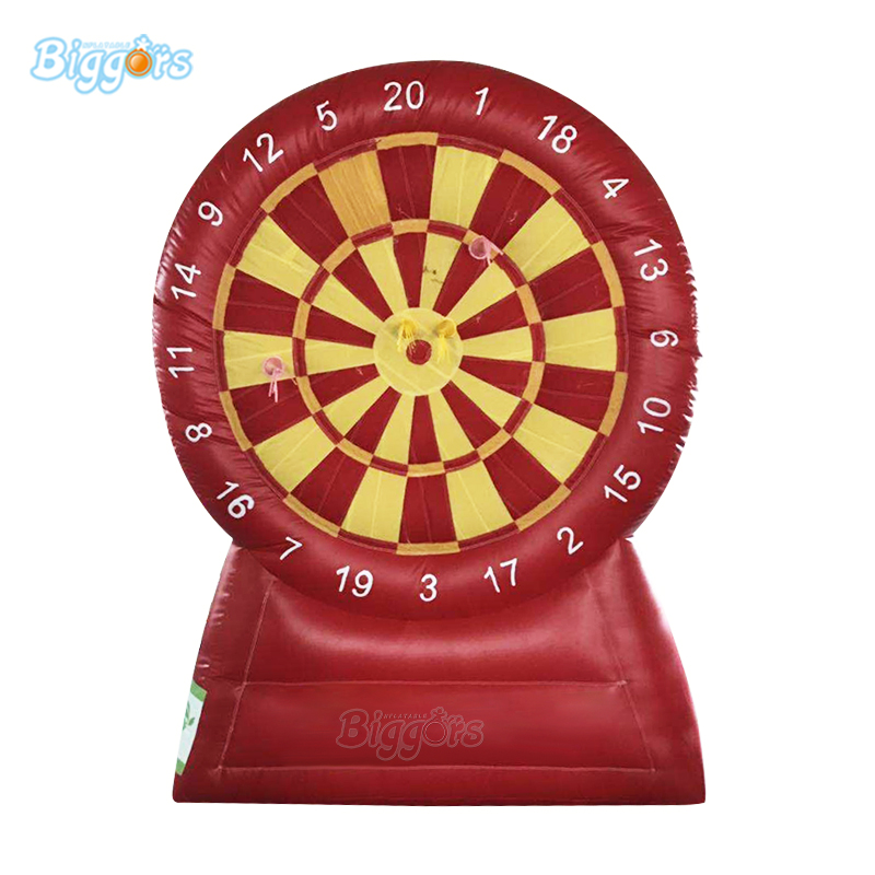 Popular crazy game giant inflatable soccer dart board inflatable foot darts