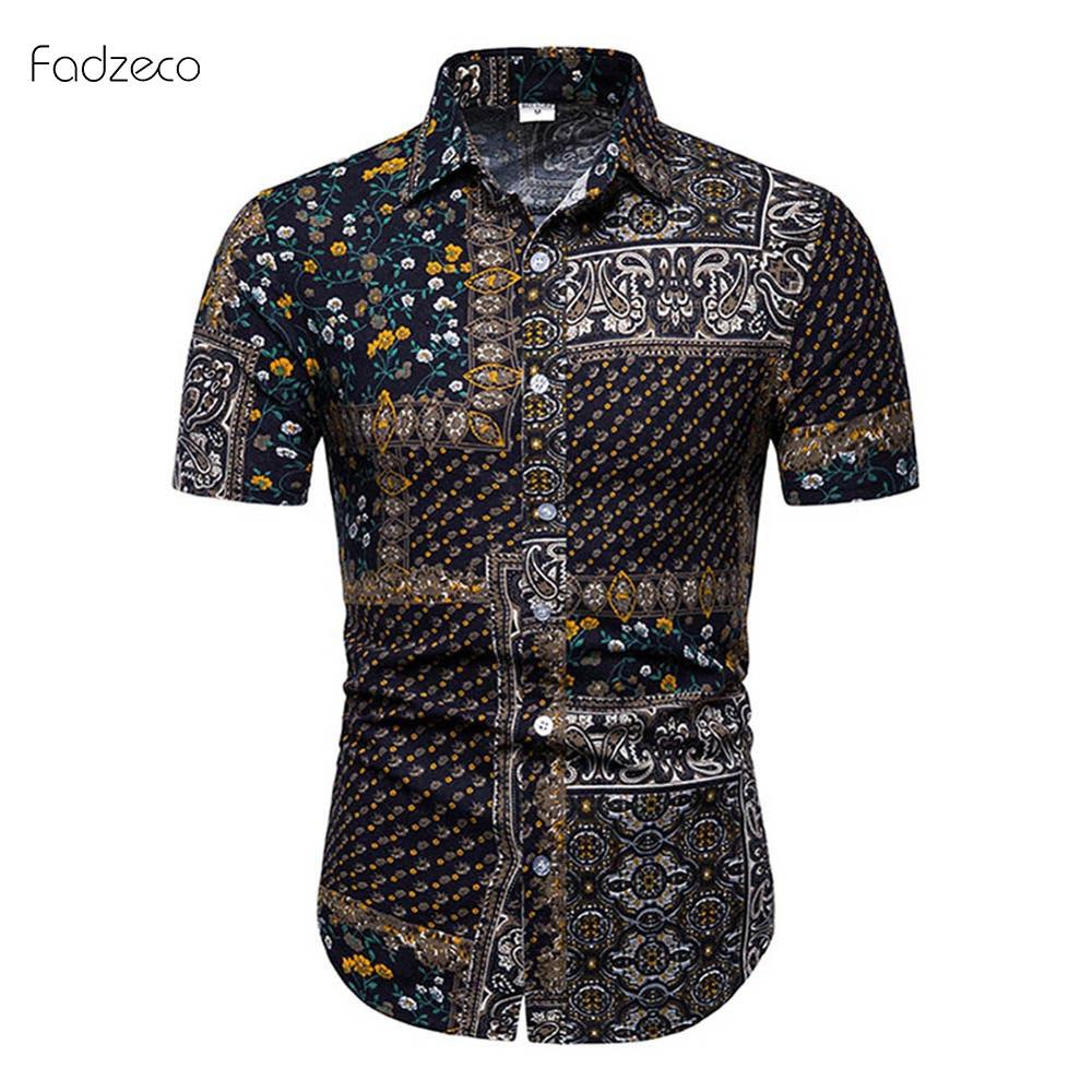 Fadeco <font><b>African</b></font> Clothes <font><b>Men's</b></font> Short Sleeve <font><b>Shirt</b></font> Dashiki <font><b>Wax</b></font> Print Male Lapel Plus Size <font><b>African</b></font> Clothing Bazin Pattern Color Mix image