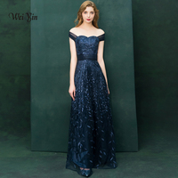 weiyin Cheap Price Elegant Lace Mermaid Long Evening Dresses 2018 Prom Party Dress Robe De Soiree Longue WY930