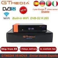 Récepteur Satellite GTMedia V8 Nova avec 1 an Europe espagne allemagne 7Cline Full HD H.265 Hevc décodeur comme V8 Super V9 Super
