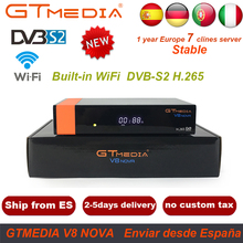 Satellite Receiver GTMedia V8 Nova With 1 Year Europe Spain Germany 7Cline Full HD H.265 Hevc Decoder as V8 Super V9 Super j ob v2 jlink ob j link v8 v9 v9 3 stlink compatible with virtual serial port