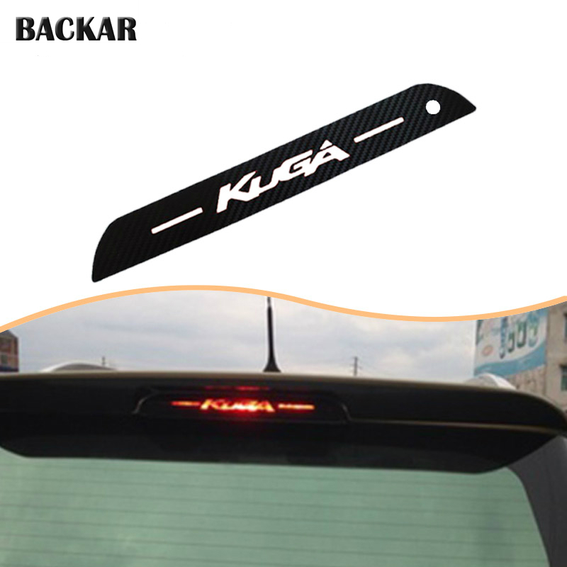 Car Styling 3D Carbon Fiber Emblems Stickers For Ford Kuga Escape 2019 2018 2013 2014 15 16 17 High Brake Light Accessories