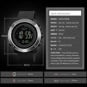 Image 5 - SKMEI thermomètre pour hommes, Montre bracelet, thermomètre à laltitude, numérique de sport, horloge, escalade, randonnée, 1427