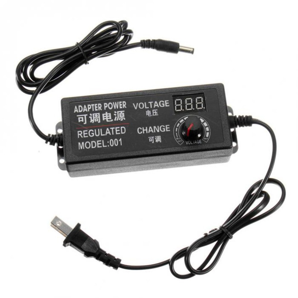 все цены на 4-24V 1.5A 36W AC/DC Adjustable Power Supply Adapter LED Digital Display Speed Control Volt Regulator US Plug for Light онлайн