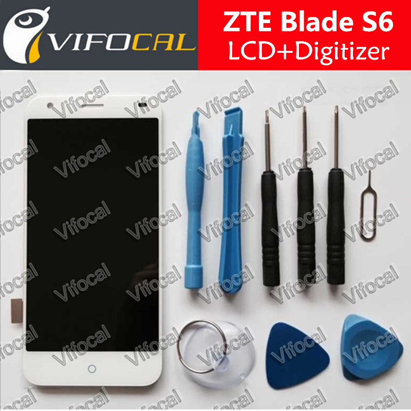 imágenes para Para ZTE Blade S6 Sensor Display LCD de Pantalla Táctil Digitalizador Asamblea + Herramientas de Alta Calidad Accesorios de Reparación de Reemplazo