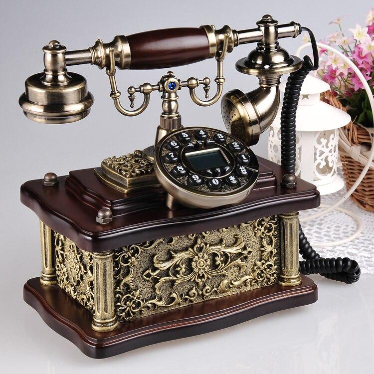 Authentic European style fashion retro wood antique  high-grade household landline telephone