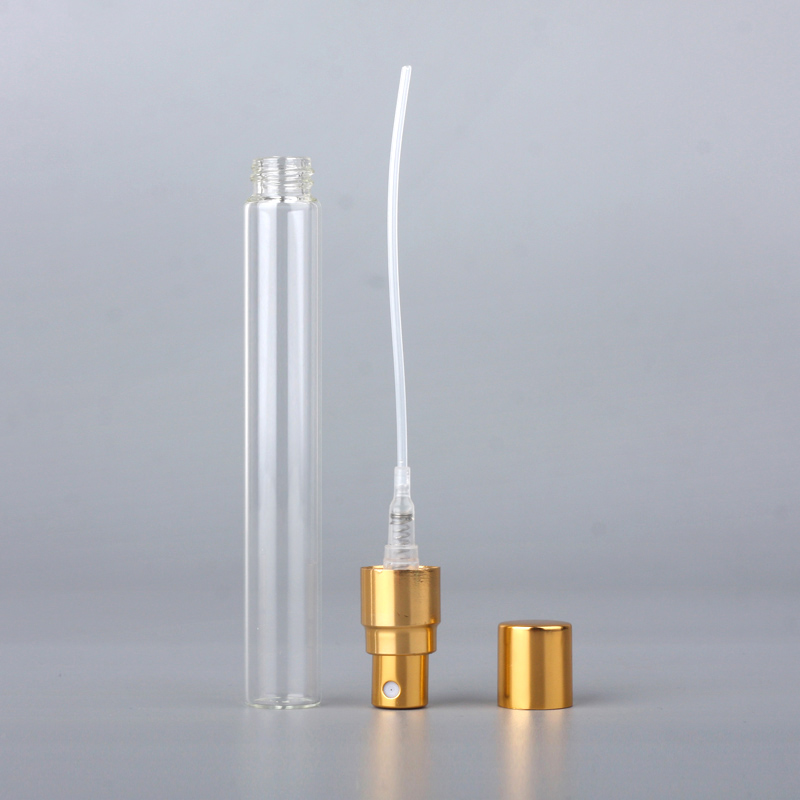 100Pcs/Lot 10ml Sample Spray Bottle Portable Parfume Bottle Refillable Container Travel Bottle Atomizer Women Perfume for gift