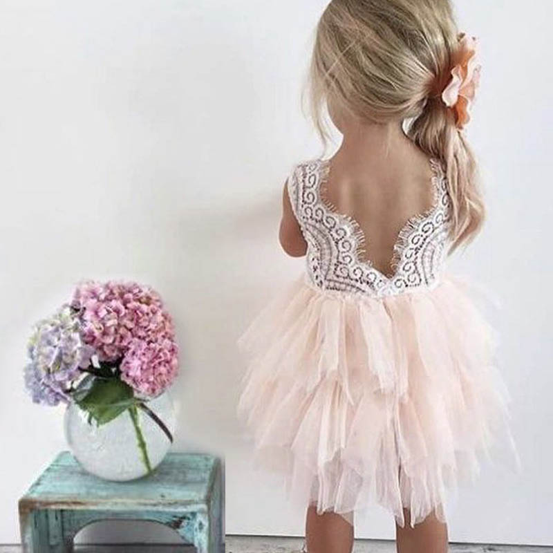 Little Girls Wedding Gowns: Lace Flower Fancy Party Dresses For Girl Baby Little Girl