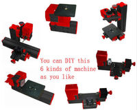 Mini Classic Lathe Machine CNC Tools Grinder Saw Driller Metal Wood Miller
