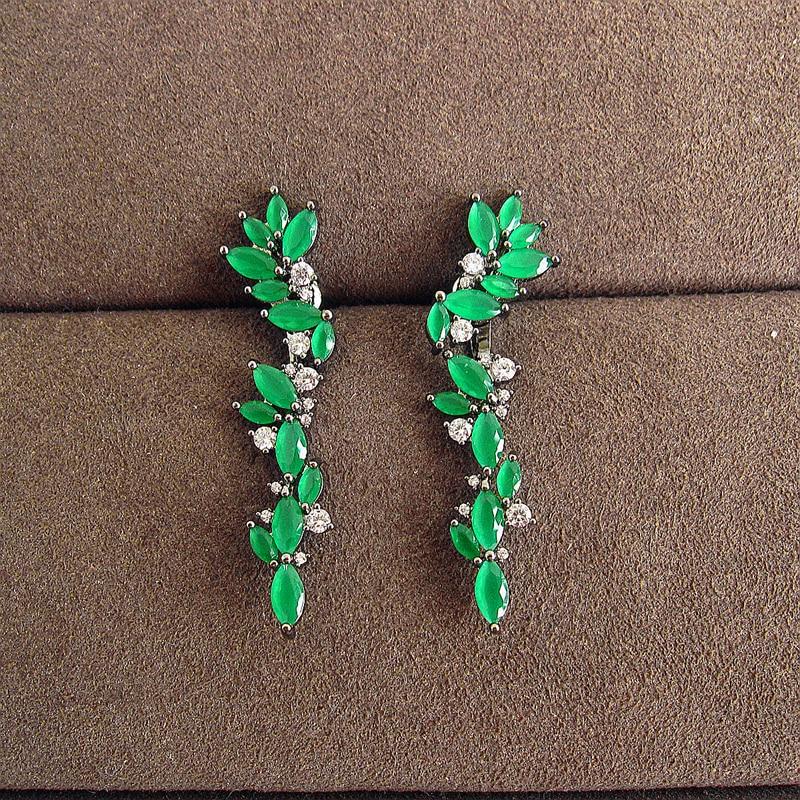 Fashion AAA cubic zirconia Petal combined polychromatic Earrings ,womens accessaries,EC026