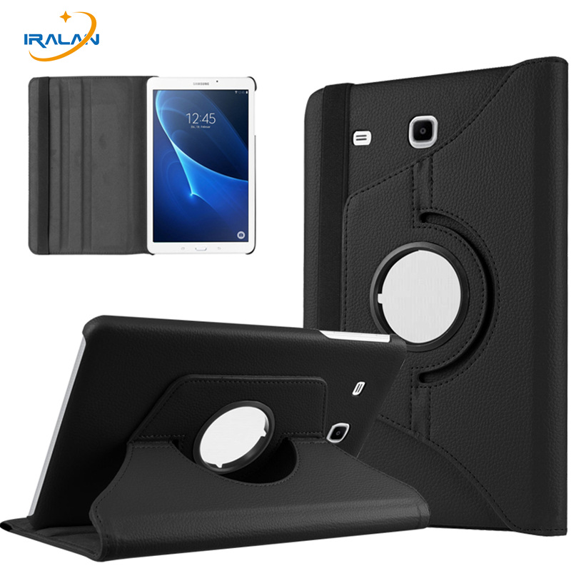 2017 Best selling 360 degree Rotating PU leather case  For Samsung Galaxy Tab A 7.0 T280  T285 Tablet cover 7''inch+film + pen