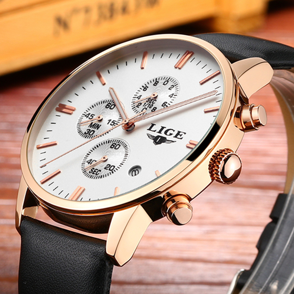 relogio masculino 2017 LIGE Brand Watches men luxury fashion casual leather Quartz watch men clock sports business wristwatches new listing yazole men watch luxury brand watches quartz clock fashion leather belts watch cheap sports wristwatch relogio male