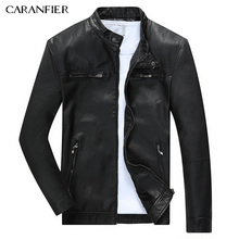 CARANFIER Men Warm Breathable font b Leather b font font b Jacket b font High Quality