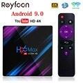 Смарт ТВ-бокс Android 9 0 H96 Max RK3318 4 Гб 64 Гб USB3.0 1080P H.265 60fps Google Voice Assitant Player Youtube 4K Smart TV Box