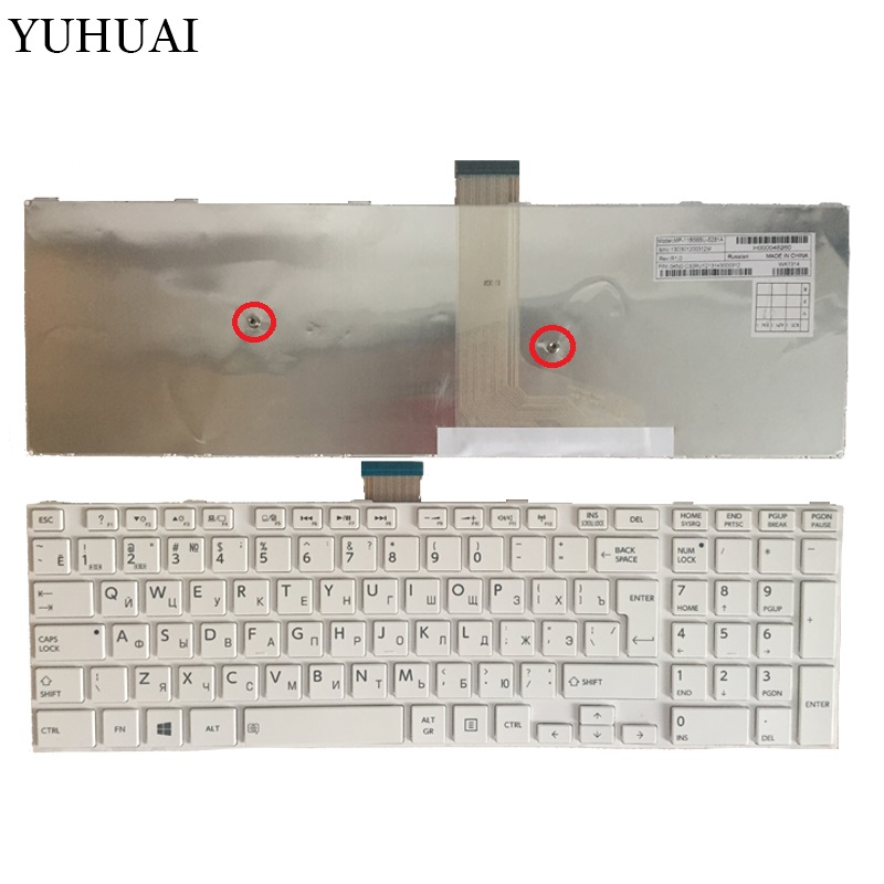 NEW for Toshiba satellite l50-a s50 s55 l70 l75 c70 c75 RU White Russian keyboard цена