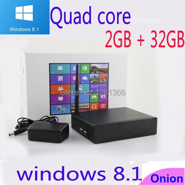 2015 New Vmsart M1 MINI PC avec Windows 8.1 OS Intel Quad Core 1,33 GHz CPU 2G RAM 32 Go de stockage mini-ordinateur